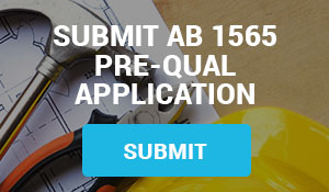 Submit AB1565 Prequalification Application